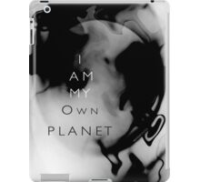 Psychmaster Space Object I Am My Own Planet BW iPad Case/Skin