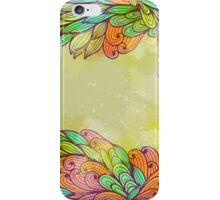 Hand drawn seamless floral grunge design iPhone Case/Skin