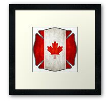 Canadian Firefighter Framed Print