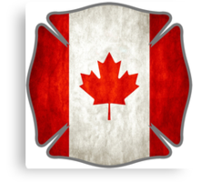 Canadian Firefighter Canvas Print