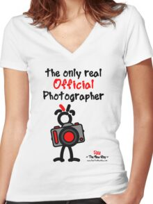 Red - The New Guy - The only real Official Photographer Women's Fitted V-Neck T-Shirt