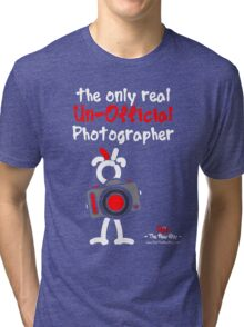 Red - The New Guy - The only real Un-Official Photographer Tri-blend T-Shirt
