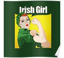 Rosie Riveter Irish Girl Poster
