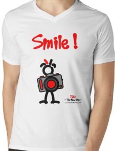 Red - The New Guy - Smile ! Mens V-Neck T-Shirt