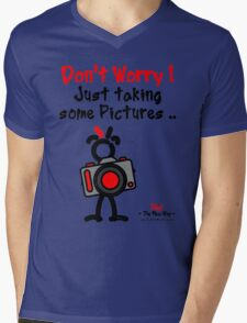 Red - The New Guy - Don't Worry ! Just taking some pictures .. Mens V-Neck T-Shirt