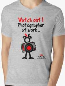 Red - The New Guy - Watch out ! Photographer at work .. Mens V-Neck T-Shirt
