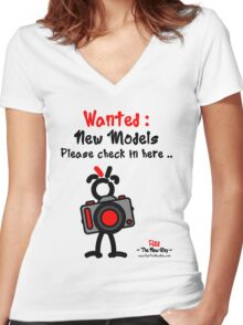 Red - The New Guy - Wanted : New Models .. Women's Fitted V-Neck T-Shirt