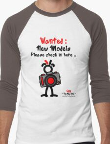 Red - The New Guy - Wanted : New Models .. Men's Baseball ¾ T-Shirt