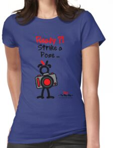 Red - The New Guy - Ready ?! Strike a Pose .. Womens Fitted T-Shirt