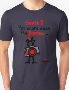 Red - The New Guy - Ssshh!! You scare away the Bunnies .. T-Shirt
