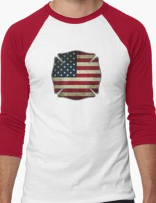 American Firefighter Men's Baseball ¾ T-Shirt
