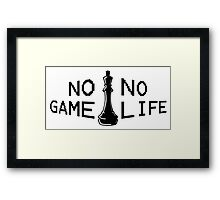 No Game; No Life Framed Print