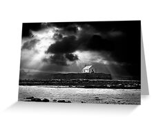 approaching storm. saint cwyfan Greeting Card