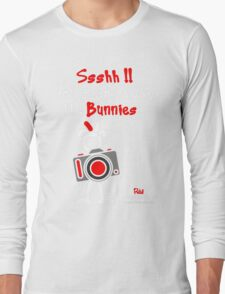 Red - The New Guy - Ssshh!! You scare away the Bunnies .. Long Sleeve T-Shirt