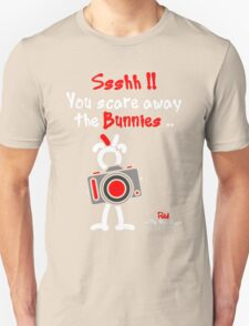 Red - The New Guy - Ssshh!! You scare away the Bunnies .. Unisex T-Shirt