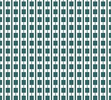 Gary Olav Green and White pattern by CircusValley