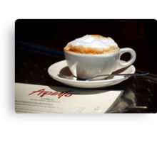 Latte and Lunch Canvas Print