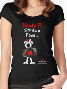 Red - The New Guy - Ready ?! Strike a Pose .. Women's Fitted Scoop T-Shirt
