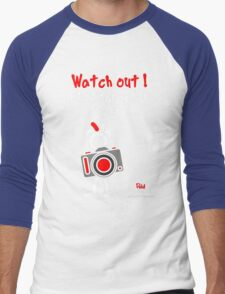 Red - The New Guy - Watch out ! Photographer at work .. Men's Baseball ¾ T-Shirt