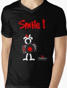 Red - The New Guy - Smile ! Mens V-Neck T-Shirt