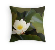 abstract of Water Lily Throw Pillow