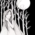 Moonlight in the Woods by tiffanydow