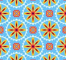 Seamless geometric ethnic patchwork pattern by Patternalized
