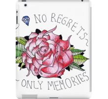 No regrets, only memories. iPad Case/Skin