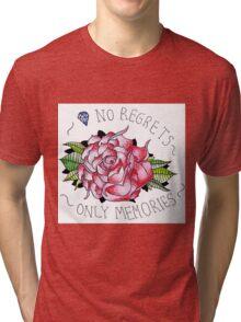 No regrets, only memories. Tri-blend T-Shirt