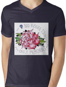 No regrets, only memories. Mens V-Neck T-Shirt