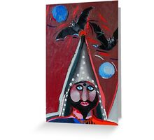 Evil wizard Greeting Card