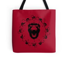 12 Monkeys - Black in Red Tote Bag