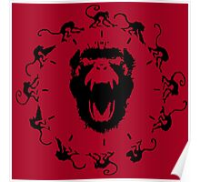 12 Monkeys - Black in Red Poster