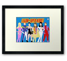 Legion of Super-Heroes Minimal 1 Framed Print