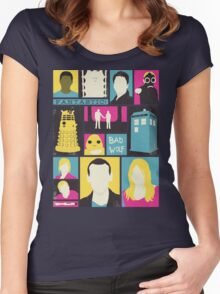 Doctor Who - The Ninth Doctor Women's Fitted Scoop T-Shirt