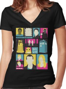 Doctor Who - The Ninth Doctor Women's Fitted V-Neck T-Shirt