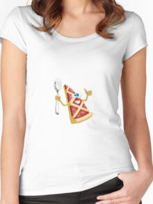 Funny pizza! Women's Fitted Scoop T-Shirt
