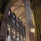 Inside of Notre Dame cathedral, Paris by chord0