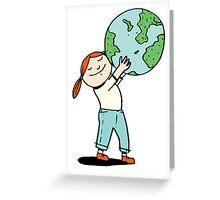 Give the earth a hug Greeting Card