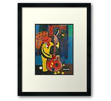 Street musicians Framed Print