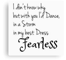 Fearless Lyrics Canvas Print