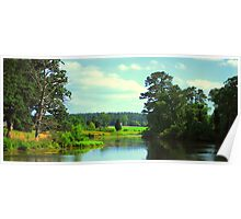 Scenic Country Pond Poster