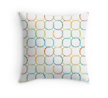 Colorful ink stains Throw Pillow