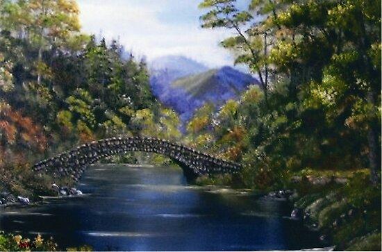 """Stone Bridge"" - somewhere in Ireland by Avril Brand"