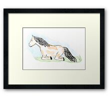Sleepy Horse Framed Print