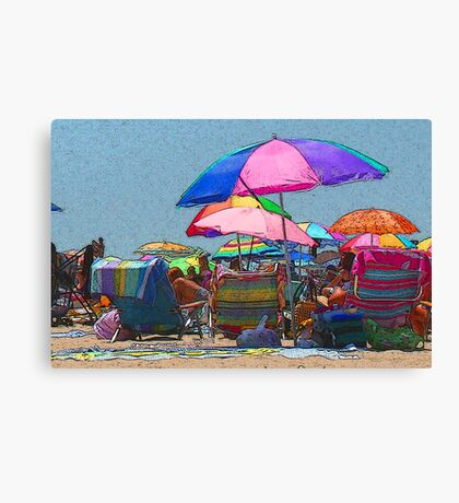real estate at the beach Canvas Print