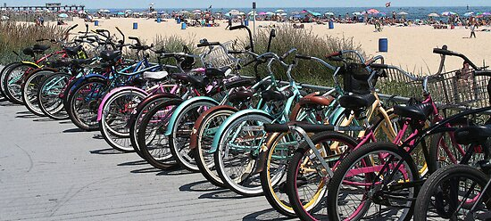 bikes on the boardwalk by mikepaulhamus