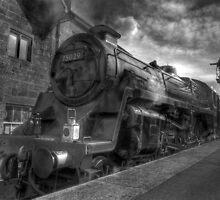 Steam train B & W by WhartonWizard