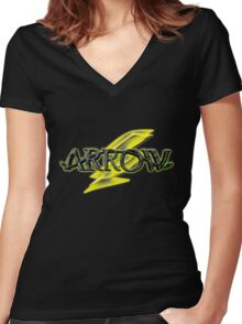 Arrow and Flash cross-over Tv Series  Women's Fitted V-Neck T-Shirt