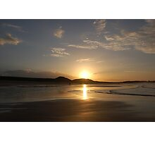 Sunset,Northumbria Photographic Print